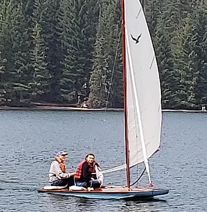 8-23 Kira and Sophia on Timothy