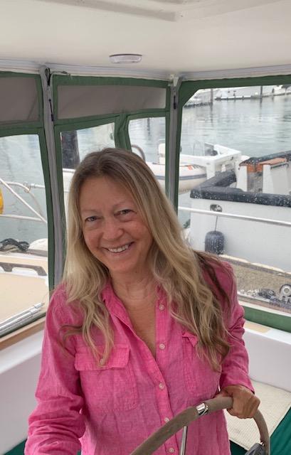 Lynn Ringseis on boat