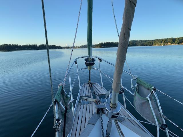 forward view of sailboat