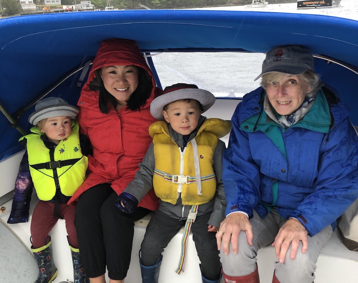 Ellen and her family use their boat for sailing around Casco Bay in Maine.